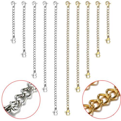 10pcs stainless steel necklace bracelet extension extender