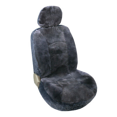 One Sheepskin Seat Cover fit Toyota, Honda,Ford,Chevrolet and Most Cars Gray