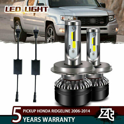 LED Headlight High Low Bulbs For Pickup Honda Ridgeline 2006-2014 White Lights