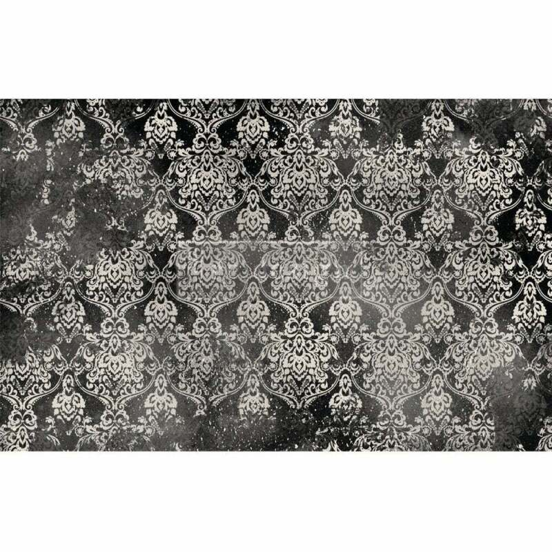 Dark Damask Decoupage Paper by redesign with Prima!