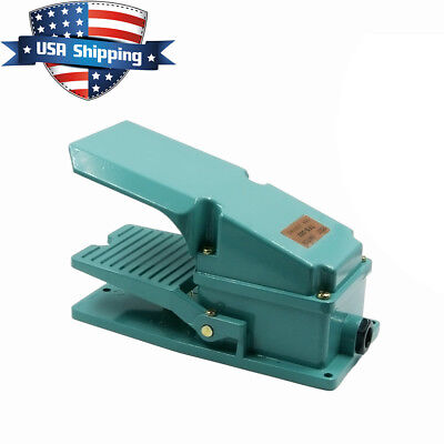 Durable Cast Aluminum Foot Pedal Spdt Momentary Switch 15a 250 Vac Electric