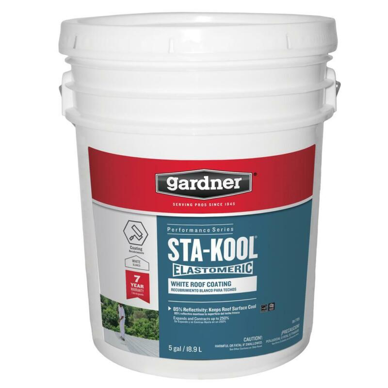 5 Gallon Sta Kool Elastomeric White Reflective Roof Coating High Performance