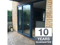 New Aluminium Bi Fold Patio Doors inc Glass Anthracite Grey White Or Black Nationwide Delivery