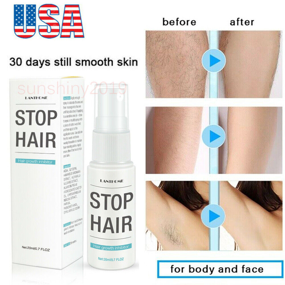 Natural Hair Removal Spray For Women Men Painless Permanent