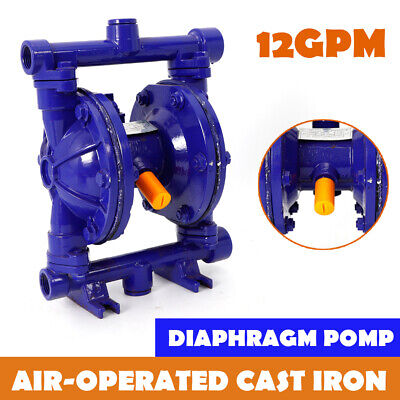 Air-operated Double Diaphragm Pump Cast Iron 12 Inch Inlet Outlet 115 Psi Usa