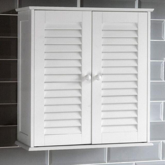Double Door Cabinet Storage: Home Discount® Bathroom Cabinet Double Door Shutter Wall