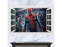 3D Windows Spider Man wall sticker, BRAND NEW, 90 x 60cm