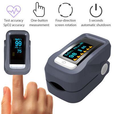 Finger Pulsoxymeter SPO2 Pulsmessgerät Pulsoximeter OLED BlutSauerstoff