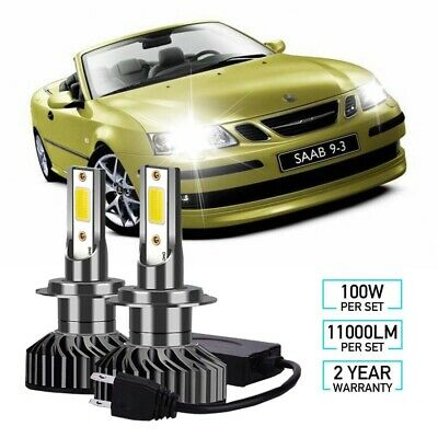 Saab 9-3 YS3F 55w Clear Xenon HID Low Dip Beam Headlight Headlamp Bulbs Pair