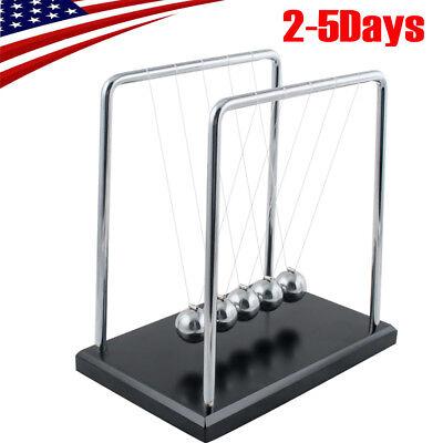 Big Newtons Cradle Kenetic Educational Gravity Balance Ball Office Room Deskus
