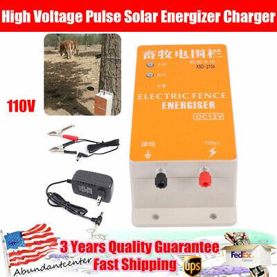High Voltage Pulse Energizer Solar Electric Fence Host Cattle Fence Charger 110v