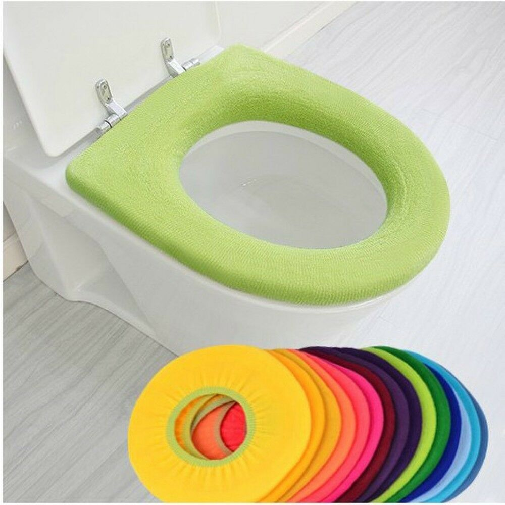 1x 2x 5x Toilettensitz-Bezug WC Überzug Closes Warmer Waschbar Sitzbezug NEU&OVP