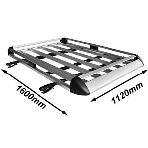 Universal-Aluminium-Roof-Rack-Luggage-Basket-Cage-with-Cross-Bars-1600-x-1120-mm