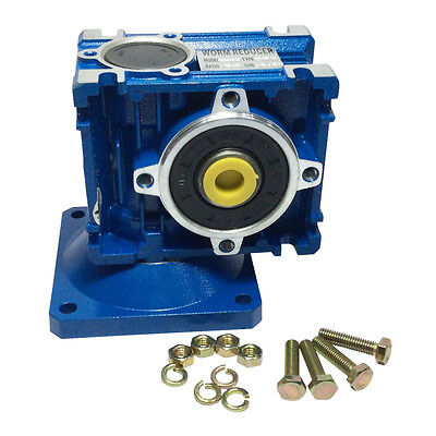 Right Angle Gearbox Geared Speed Reducer Rv030 Ratio 17.5110115130...180