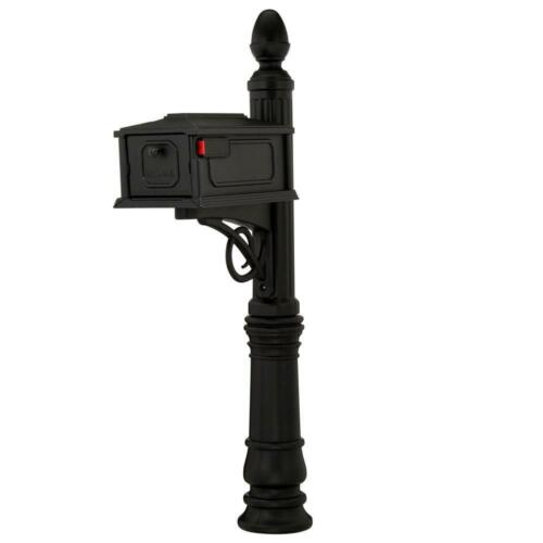 New Gibraltar BlackStratford Mail Box, Heavy Duty Mailbox and Post Combination
