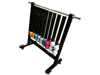 FXR Sports Vinyl & Neoprene Dumbbell Storage Rack With Wheels (DUMBBELLS NOT INCLUDED)