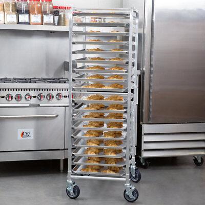 18 Pan Aluminum End Load Bakery Bun Sheet Pan Rack With Casters