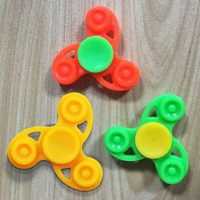 Mini Plastic Hand Spinner Fingertip Gyro Toy Focus Fidget Stress Relief EDC Kids