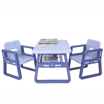 Kids Table and Chairs Set Toddler Activity Chair Best for Toddlers Lego BLUE