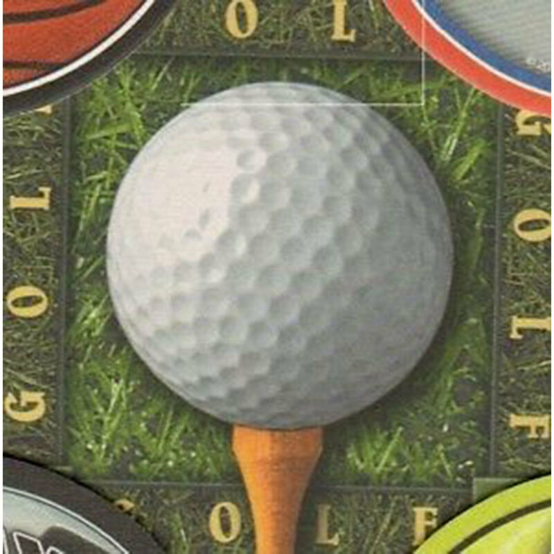 8 Absorbent Drink Coasters Play Ball Motif - Golfball