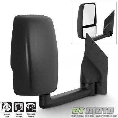 [Passenger Side] 2003-2017 Chevy Express/GMC Savana Van Manual Tow Side Mirror
