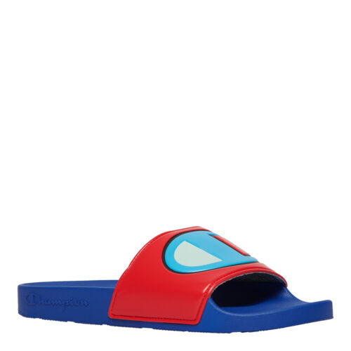 Champion Men's IPO Colorblock Slides: Blue/Red - CM100327M