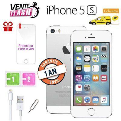 Apple iPhone 5s 64go 64GB unlocked DÉBLOQUÉ Téléphones Mobile - Argenté FR