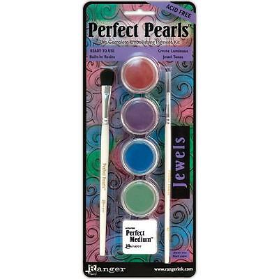PERFECT PEARLS JEWELS Complete Embellishing Pigment Kit Ranger PPP16007 - Embellishing Pigments