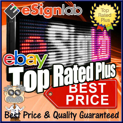 Led Sign 3 Color Rwp Programmable Scrolling Message Display 15 X 40made In Usa