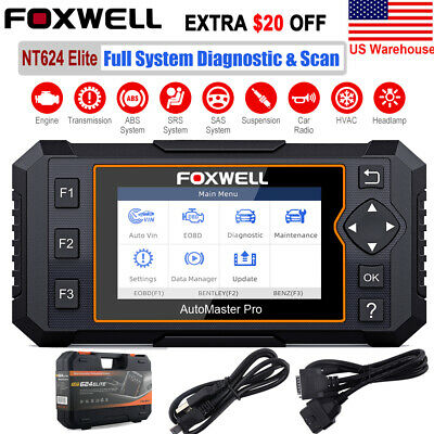 FOXWELL NT624 Elite All System Diagnostic Scan Tool OBD2 Scanner Car Code Reader