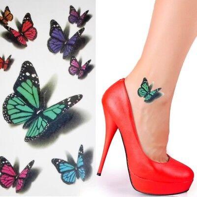 Einmal Tattoo Schmetterling- Temporary Tattoo  Aufkleber Temporäre Tattoos W-249