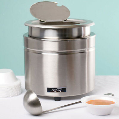 Avantco W800 11 Qt. Stainless Steel Round Countertop Food Soup Kettle Warmer