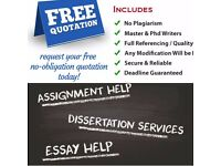 Help Provided for all Assignments, Dissertations, CourseworkS etc. Free quotation is available!