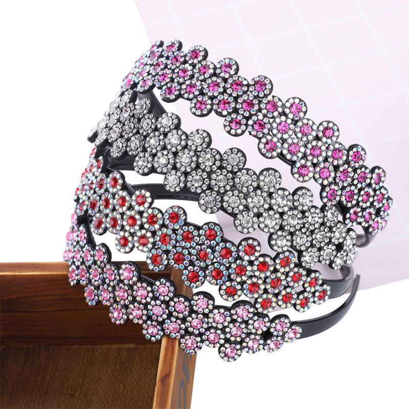 Fashion Women Crystal Headband Adjustable Plastic Haiirband Hair Accessories