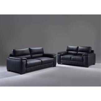 Brooklyn 2.5 Seater + 2 Seater Lounge Set Charcoal Grey