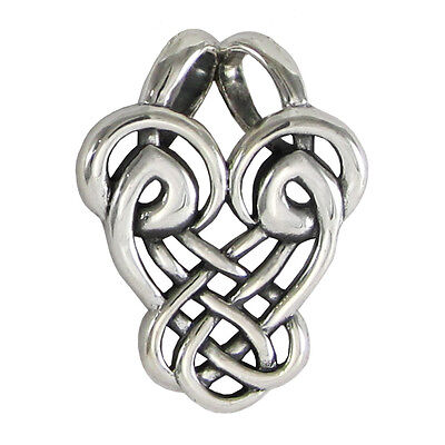 Sterling Silver Abstract Dancing Birds Celtic Love Knot Pendant Knotwork Jewelry ()
