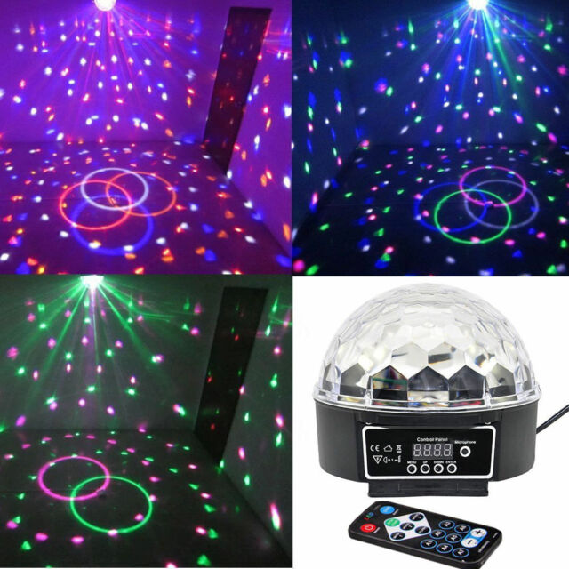 DMX512 Disco DJ KTV Bar Stage Lighting Digital LED RGB Crystal Ball Effect Light