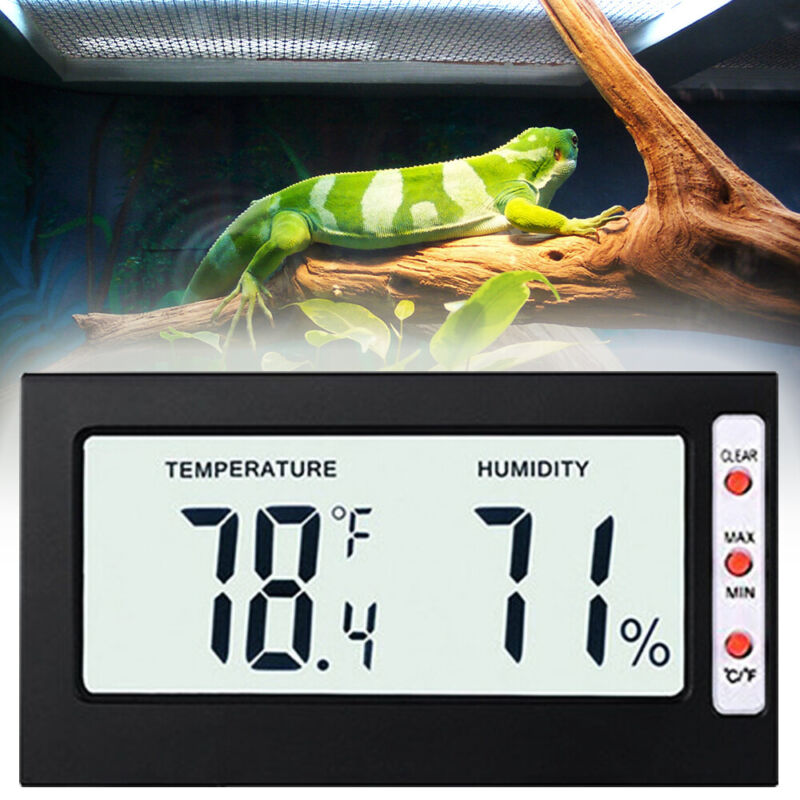 Wireless Digital Thermometer Hygrometer Reptile Bearded Drag