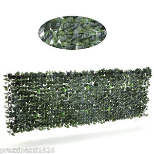 Siepe finta erba artificiale recinzione per balconi rete for Edera artificiale per balconi
