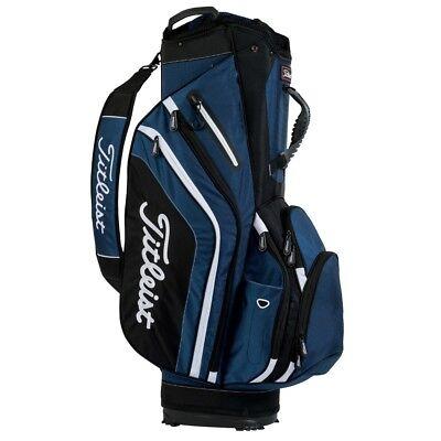 NEW Titleist Golf Lightweight Cart / Carry Bag 14-way Top Navy / Black / White