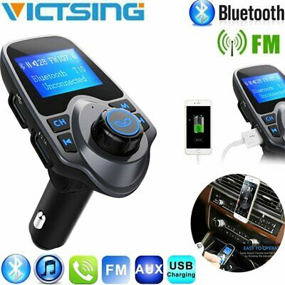 Bluetooth Car Transmitter Wireless Radio Adapter USB Charger Mp3 Player TF/FM