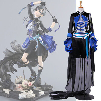 Butler Outfit Costume (Black Butler Ciel Phantomhive Uniform Cosplay Costume Outfit Full)