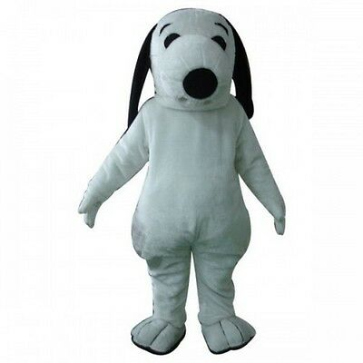 Snoopys white dog character fancy dress Cartoon Mascot Costume Adult Suit](Snoopy Mascot Costume)
