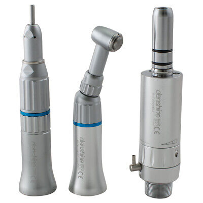 Denshine Dental Low Speed Handpiece Push Button Contra Angle Air Motor 2 Holes