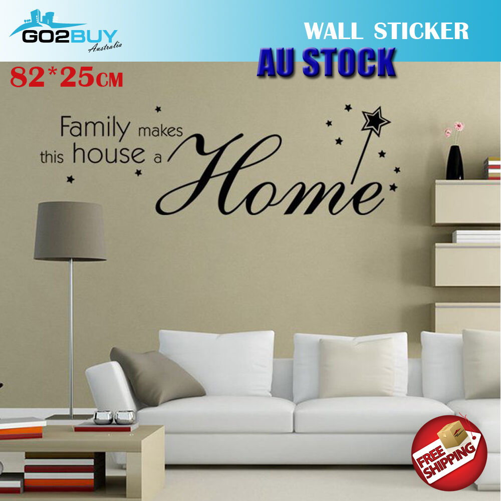 Home Decoration - Wall Stickers Removable Family Makes House Home Room Decal Picture Art Decor