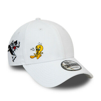 NEW ERA LOONEY TUNES BASEBALL CAP.9FORTY TWEETY PIE WHITE COTTON STRAP HAT S20