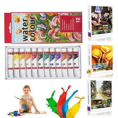 Water Color Set (12pcs 12ml Painting Water Color Pigment Palette Set Art)