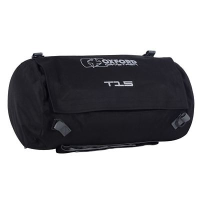 Oxford Drystash T15 Waterproof Motorcycle Roll Bag Tail Pack Bike Tail Bag Black