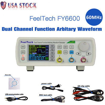 Hot Fy6600 60mhz Dual-channel Dds Function Waveform Signal Generator Counter Us
