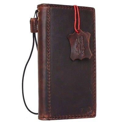 Vintage Genuine Real Leather Case For Google Pixel Xl Book Wallet Cover Strap Jp